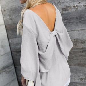 NWT Bowknot vneck blouse